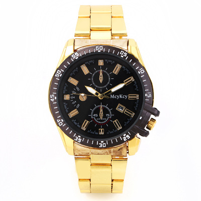 Chasy 2018 Hot Sale Newest High Quality Mcykcy Fashion Bear Men Golden Stainless Steel Sports Digital Calender Quartz Watch