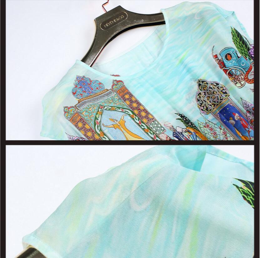 De Femmes 100 Vente Naturel Réel En Chaude Livraison Gratuite Robe Haute Luxe Naturelle Soie Qualité Tissu Imprimer dAwwrqI