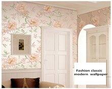 beibehang Modern luxury embossed nonwoven bedroom living room sofa TV background decorative painting papel de pared 3d wallpaper