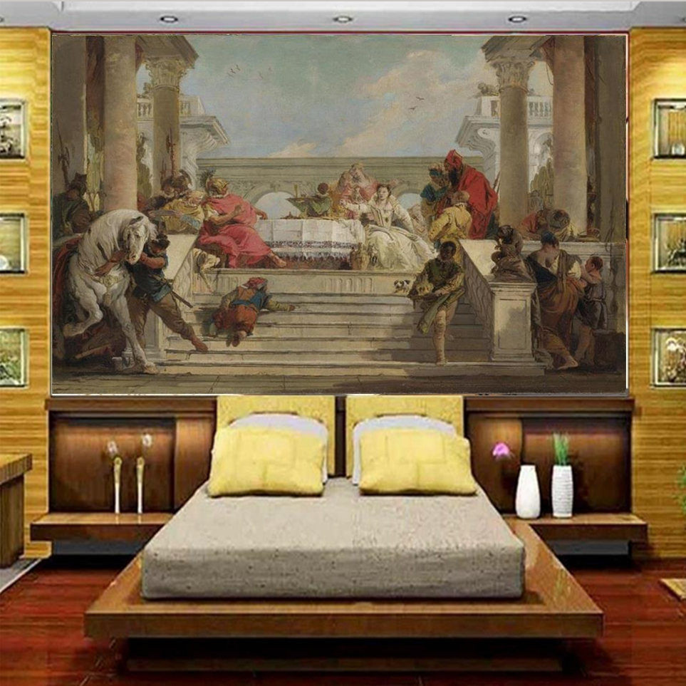 Photo Wallpaper Custom 3d Mural Living Room Church Renaissance Oil Painting Sofa TV Background Non-woven Wallpaper For Wall 3d