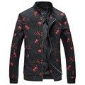 2017 новых людей прибытия вскользь цветок цвет куртки Высокого качества Печати куртки ветровка мужчины большой размер М-6XL бесплатная доставка