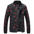 2017 new arrival men's casual flower color jacket High quality Printing jackets windbreaker men big size M-6XL free shipping