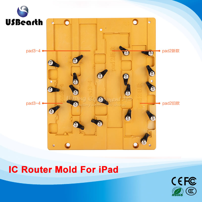 Metal polishing Milling Mould Mold for iPad 2/3/4 Chips Repairing for IC CNC Router Machine new metal 3d sublimation mold printed mould tool heat press for ipad mini 2 for ipad mini mould