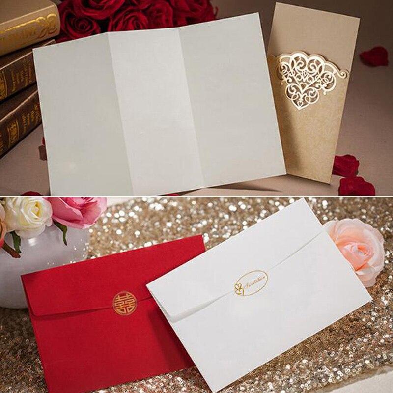 50 Stücke Gold Rot Laser Geschnitten Hohlen Blume Hochzeit Hochzeit  Einladungskarten 3D Grußkarte Grußkarten Postkarte Ereignis Partei Liefert  In 50 Stücke ...