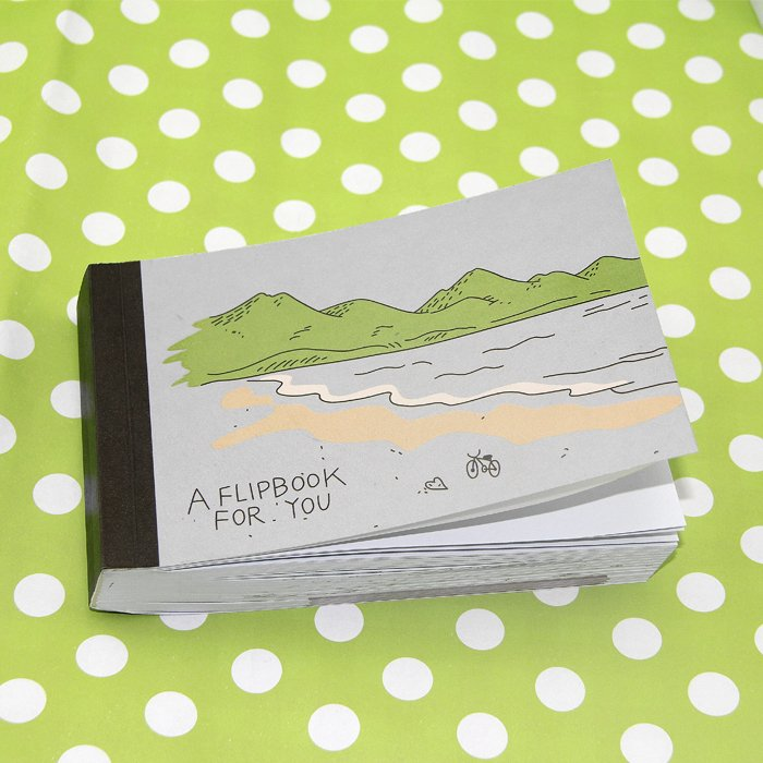 Creative Trends Bicycle Book DIY Propose Gift Flip Flap Book Can Hide the Marriage Ring Carton Flippist FlipBook AG0001