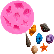 Food Grade Conch Starfish Shells Silicon Mould Silicone Baking Mold Lollipop Form For Soap Stencils Cakes SK012253