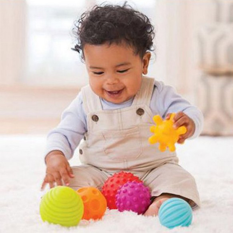 Multi Ball Set Baby Toys Super Soft Develop Baby's Tactile Senses Toy Educational Early Rattle Activity Toys