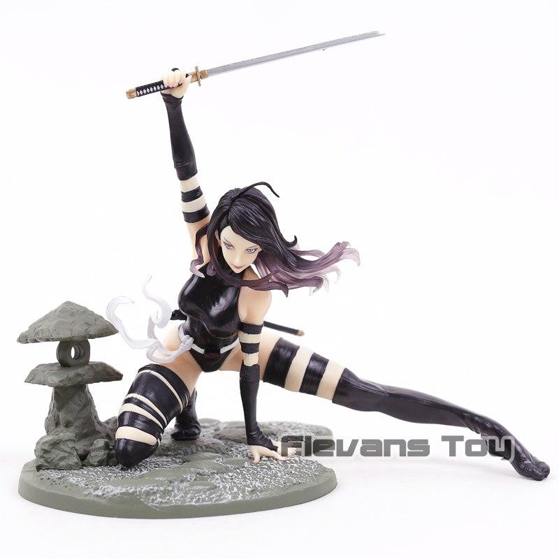 Marvel Psylocke X Force костюм в стиле ниндзя MK154 Bishoujo Статуя куклы ПВХ фигурка Коллекционная модель игрушки