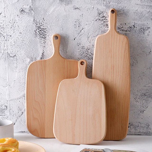 Wooden Cutting Board Cooking Chopping Block 3 Sizes Bread Board Wood Sushi  Pastry Cheese Cake Serving