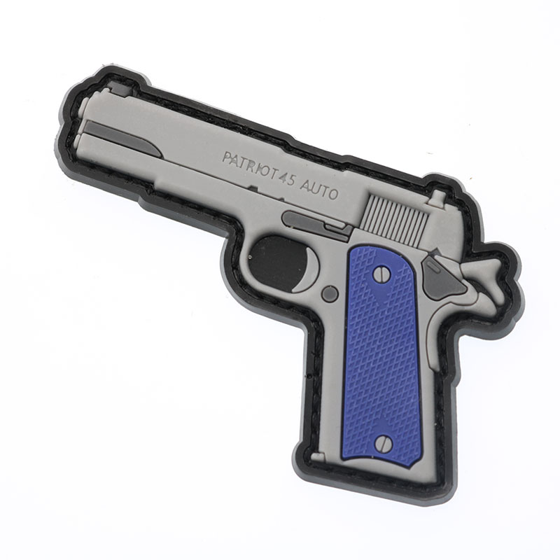 1911 Retro Firepower 3D PVC Patch Waterproof Military Tactics Moral Patch Gun Rubber Rider Outdoor Zipper Back Sticker Backpack in Patches from Home Garden