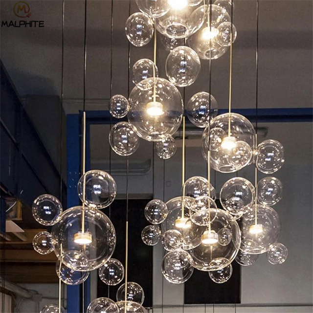 Us 73 91 19 Off Modern Simplicity Pendant Lights Nordic Bubble Ball Led Hanging Lamp Luminaire Living Room Restaurant Lighting Fixtures In
