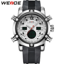 WEIDE New Men Brand Watch 30 Meters Water Resistant LCD Quartz Male Relogio Multiple Time Zone Sports Watches for Male / WH5205