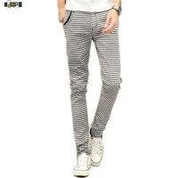 Stylish Men S Plaid Pencil Pants England Style Plaid Slim Fit Classic Luxury Trousers Slacks For