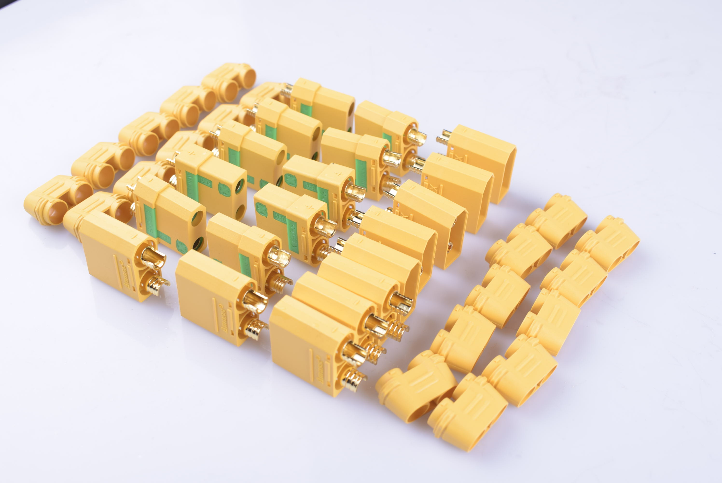 10 Pairs 20pcs Amass XT90-S Anti-Spark XT90 Deans Male Female Bullet Connectors Plugs With Cover Cap For RC Drones Trains Boats