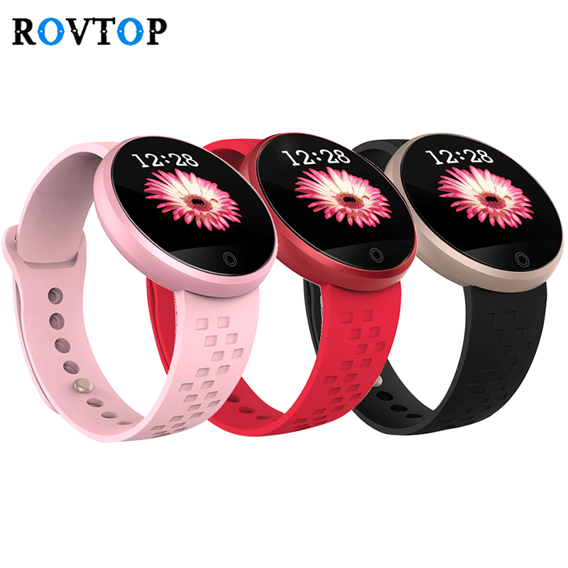 Rovtop Smart Watch for Women Girls Waterproof Heart Rate Monitor Sports Smartwatch for Android IOS Phone