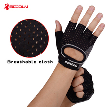 Boodun Weight Lifting Dumbbells Breathable Black Gloves Fitness Sport Gym Training Gloves Men Gloves Anti-slip  Body Building цена
