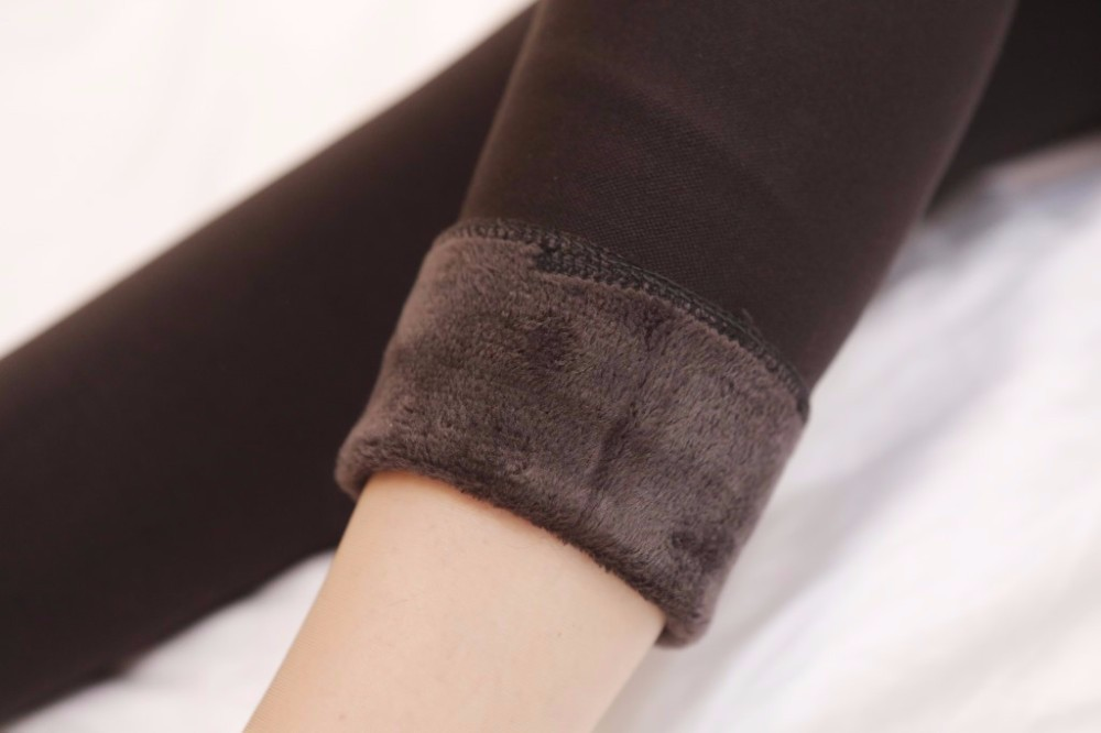 Rooftrellen Hot New Fashion Women's Autumn And Winter High Elasticity And Good Quality Thick Velvet Pants Warm Leggings 45