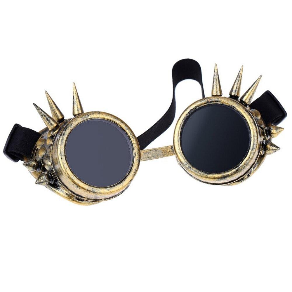 b9537d83a15aa Óculos de Segurança Óculos De Proteção De Steampunk do vintage Rebite  Projeto Steampunk Gótico Cosplay Lentes Óculos de Camelo