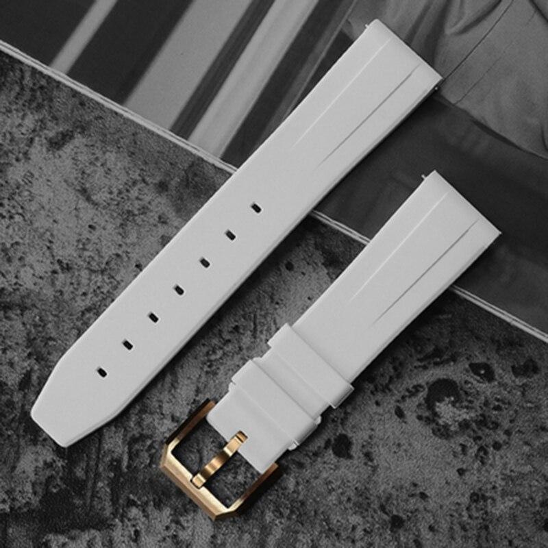 San Martin montres bracelet de montre fluor colle caoutchouc bandes EF remplacer électronique bracelet de montre sport montre sangles bronze boucle
