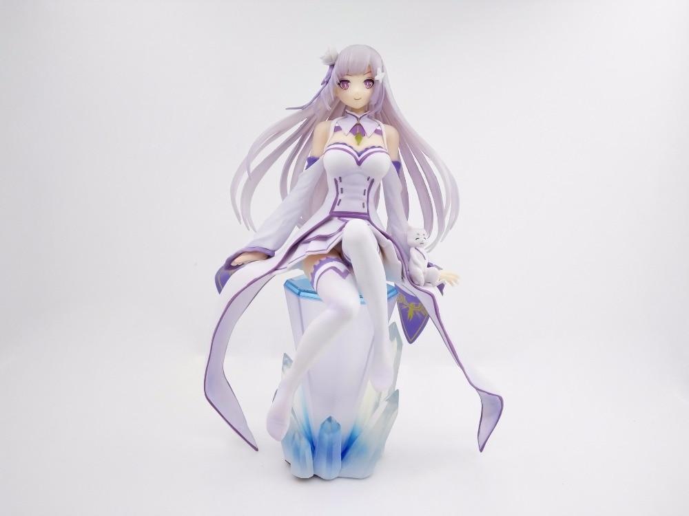 Anime Re Zero Kara Hajimeru Isekai Seikatsu Emilia PVC Action Figures Collectible Model Toys Doll 21cm dc shoes edyzt03616