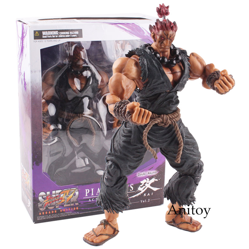 PLAY ARTS KAI Street Fighter IV 4 Gouki Akuma SUPER ARCADE EDITION Vol.2 PVC Action Figure Collectible Model Toy 23.5cm KT4773 play arts kai street fighter iv 4 gouki akuma pvc action figure collectible model toy 24 cm kt3503