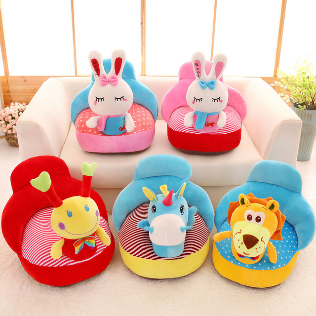 2018 cute animal baby sofa support seat plush infant learning to sit