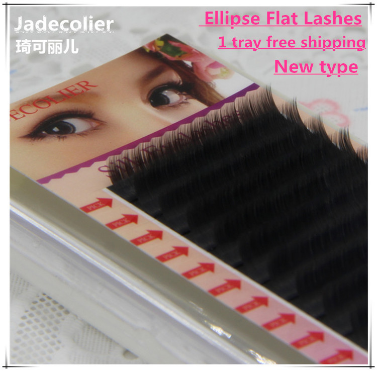 Nieuw type hoogwaardige zachte Ellips platte wimpers 1 lade dunne - Make-up