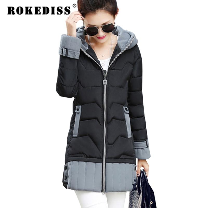 Long Womens Winter Jackets And Coats Thick Warm Women Parka Women's Winter Jacket Female Cotton Anorak Manteau Femme TG178 стоимость