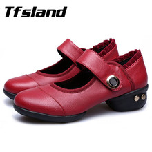 Tfsland Women's Breathable Soft Leather Dance Shoes Jazz Hip Hop Shoes Salsa Sneakers for Woman Size 41 Big Size Christmas Gift