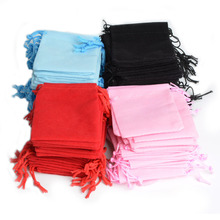 Wholesale 100Pcs Mix Color 10x12cm Velvet Bag/Jewelry Bag/Velvet pouch,Christmas/Wedding Gift Bag