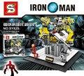 Marvel avengers iron Man Bloques Huecos de super heroes Figuras Modelos juguetes para niños SY825