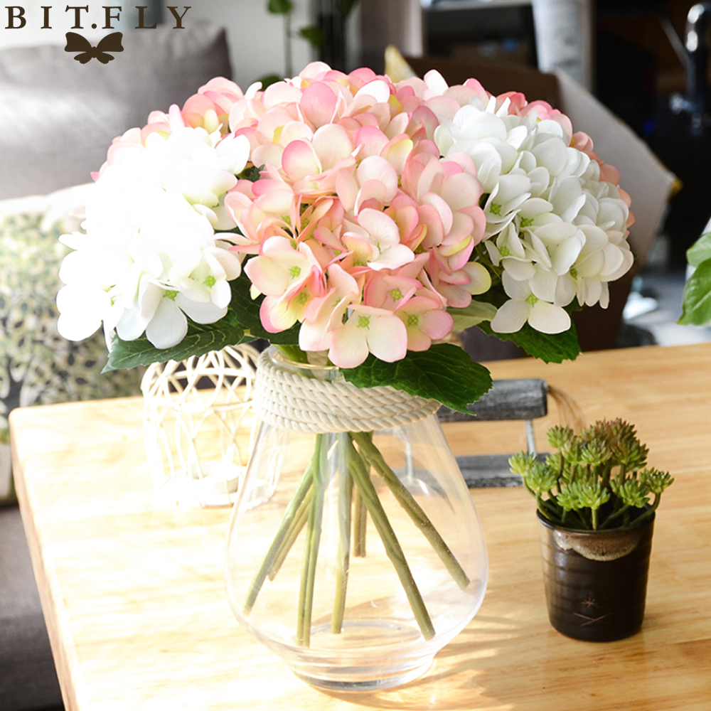 Bitfly Artificial Hydrangea Silk Flower Diy Decorative Flower