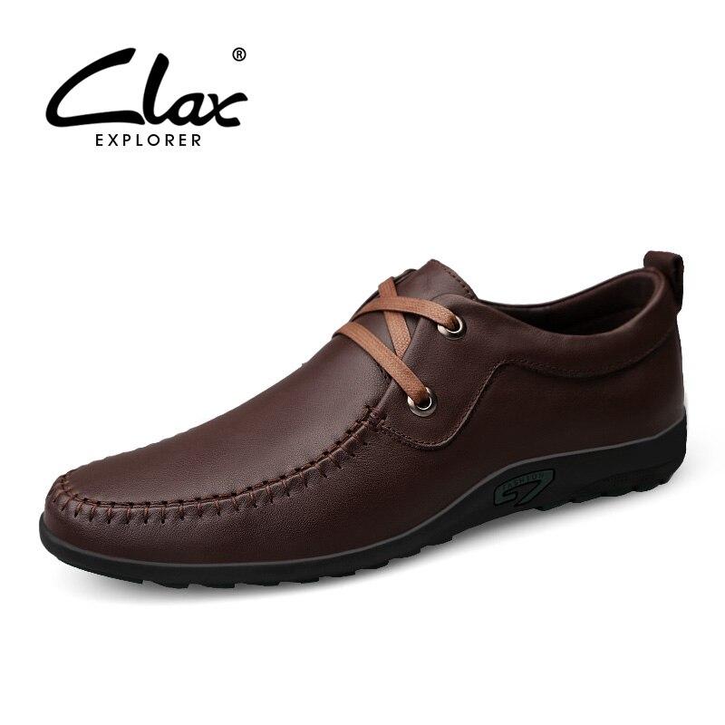 De Chaussure Derby Automne Cuir Male Chaussures Printemps Homme Doux Black  Respirant Véritable Hommes Clax brown ... 935822a7616