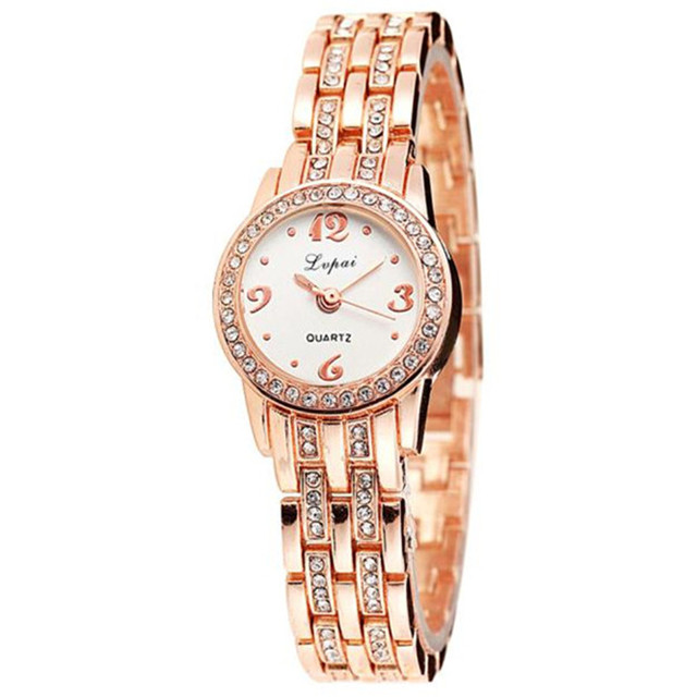 New Fashion Rhinestone Watch Women Luxury Brand Bracelet Watch Ladies Quartz Dre