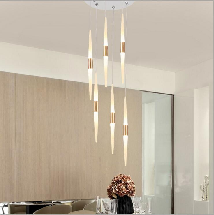 Long Dining Room Chandeliers: Staircase Chandeliers Long Chandelier Modern Minimalist
