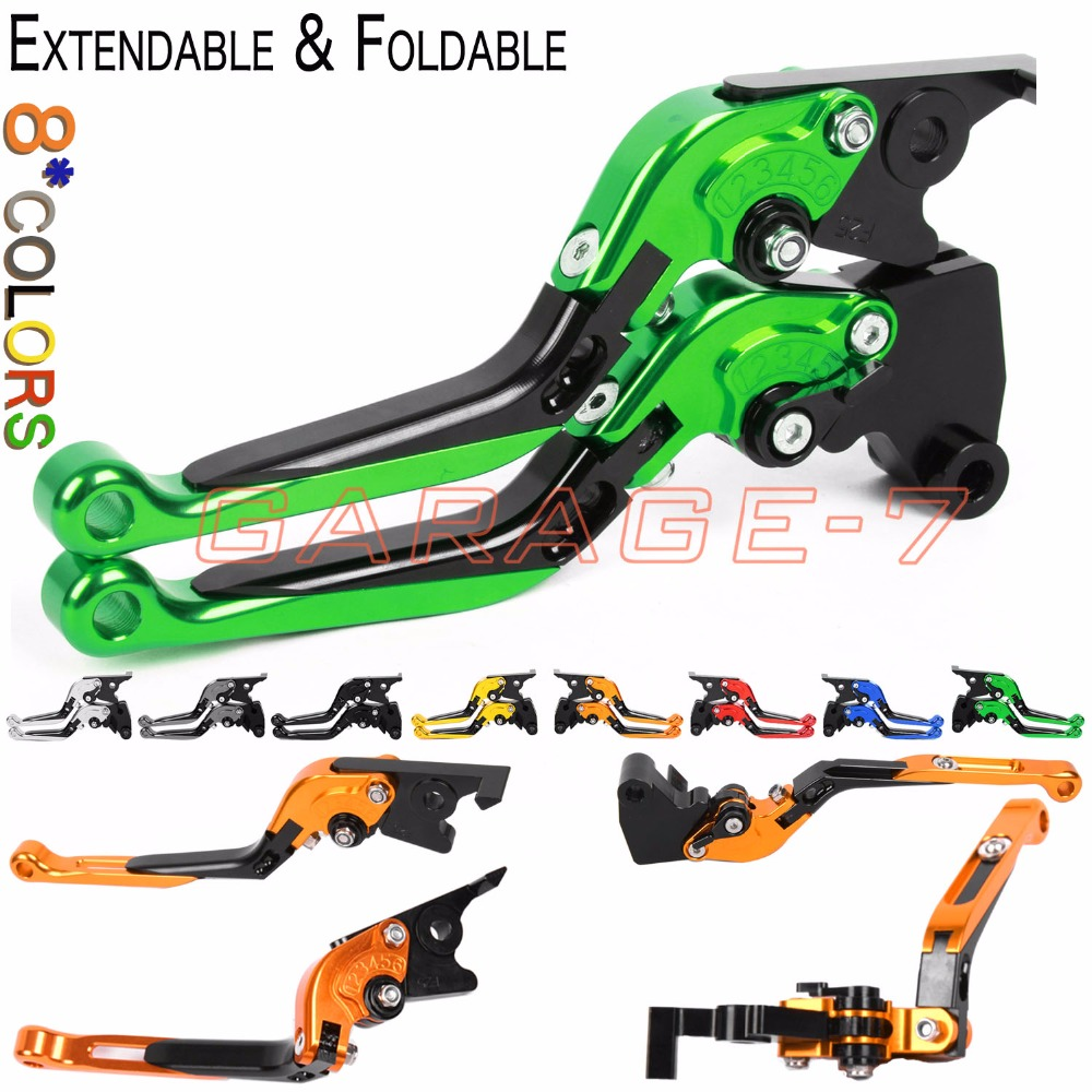 For Kawasaki ZX9 ZZR1200 ZX7R/ZX7RR ZX10 VN1500 VN1600 Mean Streak GPZ900R Motorcycle CNC Foldable Extending Brake Clutch Levers kawasaki vn 1600 mean streak в спб