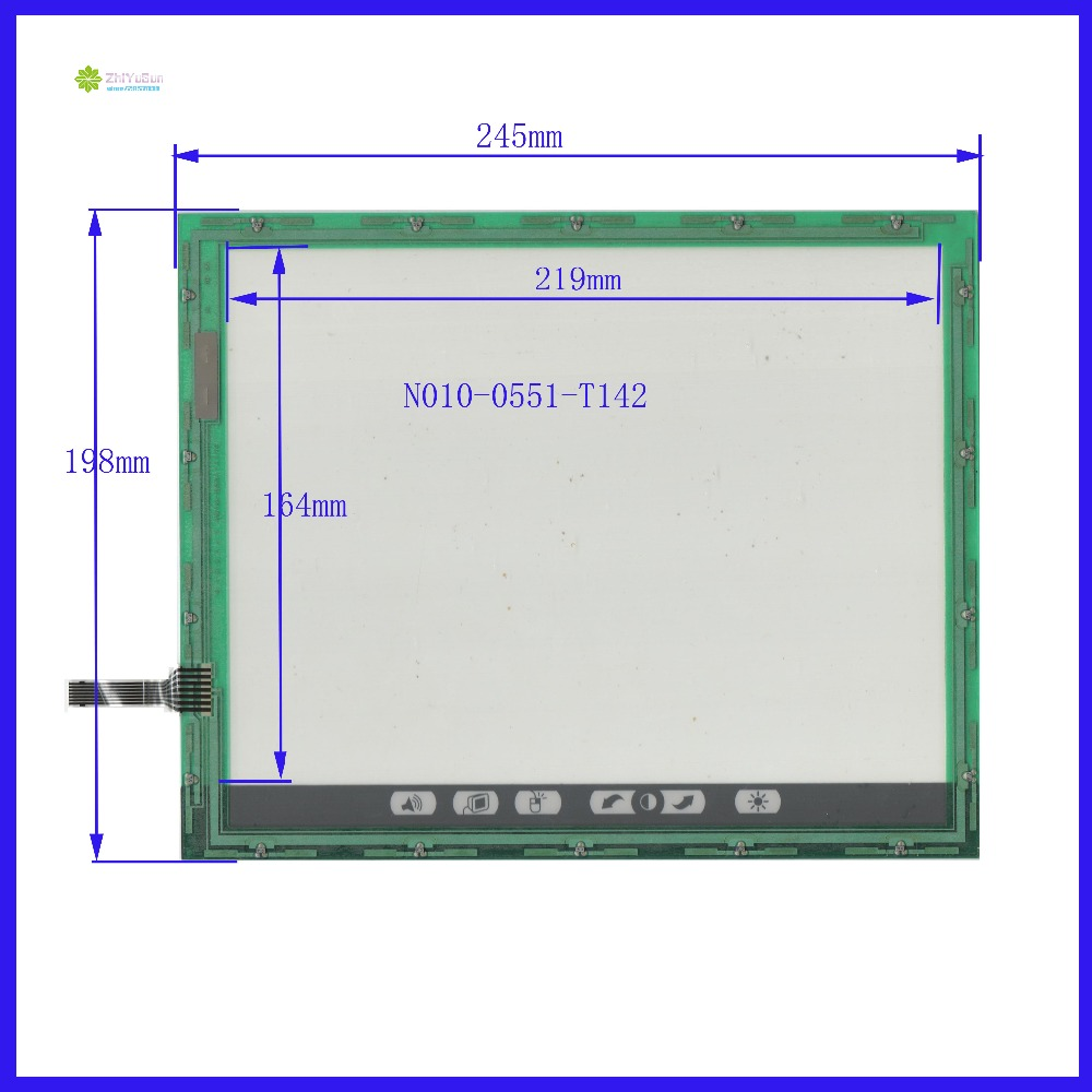 ZhiYuSun N010-0551-T142   touch screen panel  Sensor glass for Industrial application n010 0551 t248