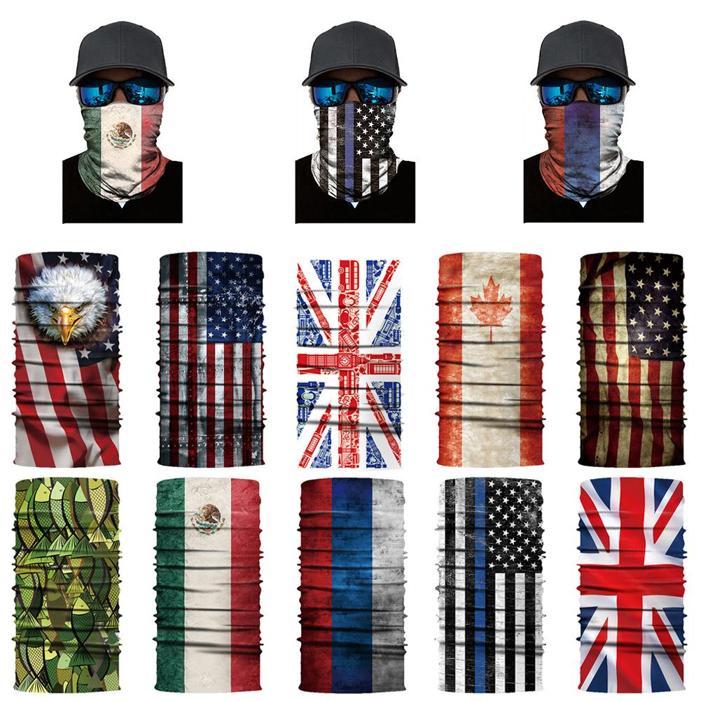 Clever National Flag Series Neck Gaiter Balaclava Face Mask Bandana Headband Outdoor Apparel Accessories