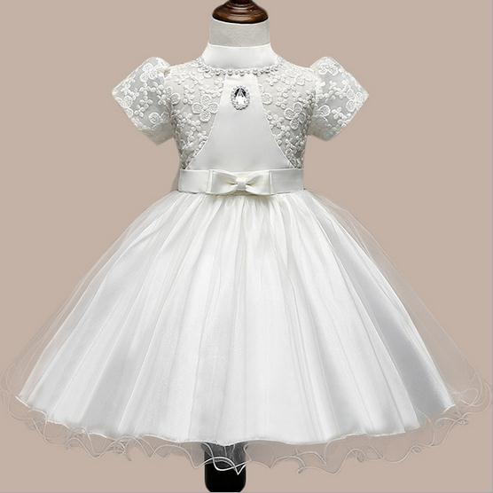 ФОТО girls wedding dresses summer 2016 embroidery flower girls party dress noble kids tutu dress suit 2-8T robe fille enfant
