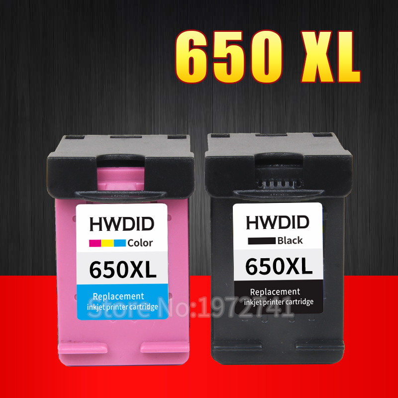 2 Pack Ink Cartridge Compatible  for HP 650 XL for HP Deskjet Ink  Advantage 1015 1515 2515 2545 2645 3515 3545 4515 4645 henry cotton s