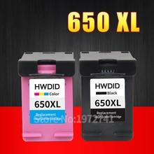 2 Упак. Картридж Совместимый для HP 650 XL для HP Deskjet Ink Advantage 1015 1515 2515 2545 2645 3515 3545 4515 4645