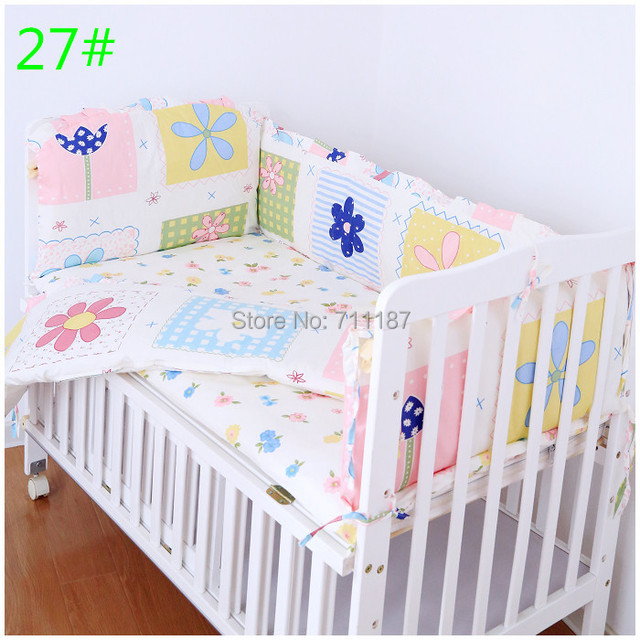Hot Selling Crib Bumper Baby crib bedding bedding set 100% cotton bedclothes bed decoration include pillow bumpers mattress 5pcs