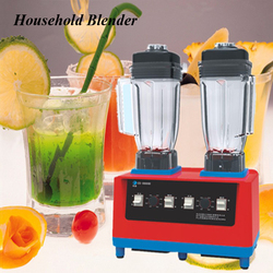 2400W Electric Classical Household Mixer Double-headed Machine Commercial Sand Ice Crusher Machine Portable Blender CS-8800D