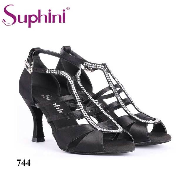 7530458b9 Free Shipping Suphini Professional Latin Shoes Satin Dance Shoe Woman Salsa Shoes  Dance Shoes