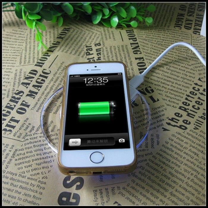 imágenes para Caso cargador inalámbrico para iphone 6 s 6 s plus banco de carga del teléfono móvil potencia de carga para iphone 6 se 5 5S cargador 5c casos