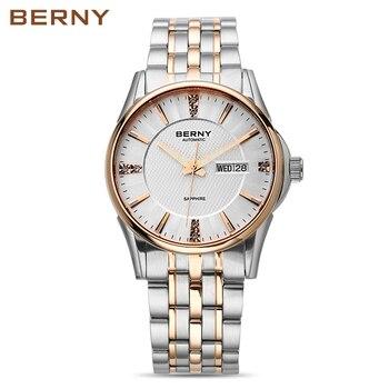 Berny Men Watch Automatic Mechanical Mens Watches Fashion Top Luxury Brand Relogio Saat Montre Masculino Erkek JAPAN MOVEMENT