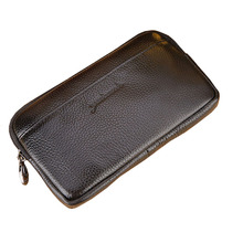 New Men Genuine Leather Vintage Cell/Mobile Phone Cover Case skin Hip Belt Bum Fanny Pack Waist Bag Pouch цены онлайн
