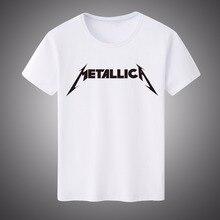 2017 New Summer Men Women Classic Heavy Metal Metallica Casual Top Tees  White Modal T-shirt Short-sleeved Shirt