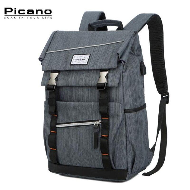 Picano Anti   thief USB ชาร์จกระเป๋าเป้สะพายหลังแล็ปท็อปกระเป๋าผู้หญิง Mochila โรงเรียนโน๊ตบุ๊คกระเป๋าเป้สะพายหลังสำหรับวัยรุ่นหญิง PCN016-ใน กระเป๋าเป้ จาก สัมภาระและกระเป๋า บน AliExpress - 11.11_สิบเอ็ด สิบเอ็ดวันคนโสด 1