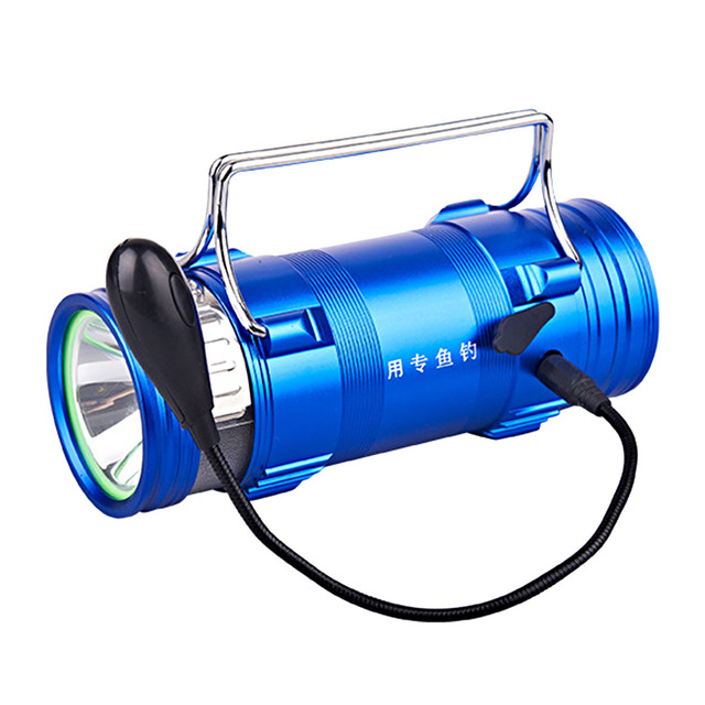new arrival fishing light lamp 3+1 mode dual head 10w led, Reel Combo